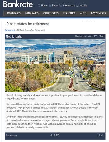 Retire in Idaho