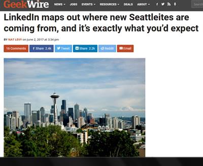 In the News - LinkedIn Maps Seattle Workforce