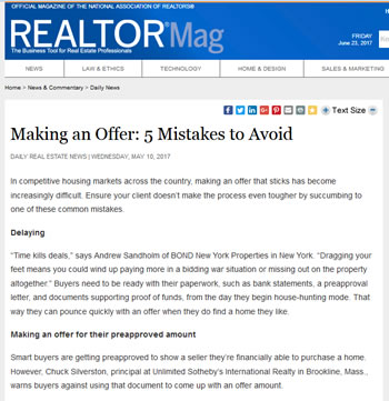 Real Estate Offer - Mistakes Article