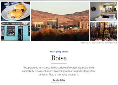 You're Going Where? Boise Article by John Briley.